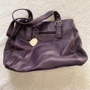 Nine West Purple Leather Purse
